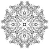Διακόσμηση δαντελλών κύκλων, στρογγυλός διακοσμητικός γεωμετρικός Στοκ Εικόνα