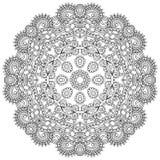 Διακόσμηση δαντελλών κύκλων, στρογγυλός διακοσμητικός γεωμετρικός Στοκ Εικόνες