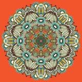Διακόσμηση δαντελλών κύκλων, στρογγυλός διακοσμητικός γεωμετρικός Στοκ εικόνες με δικαίωμα ελεύθερης χρήσης