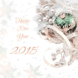 Διακόσμηση γωνιών Χριστουγέννων στο άσπρο υπόβαθρο, διάστημα για το σας Στοκ φωτογραφία με δικαίωμα ελεύθερης χρήσης
