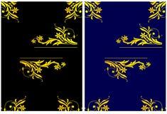 διακόσμηση εμβλημάτων floral Στοκ Εικόνες