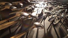 Διακόσμηση κουταλιών στον τοίχο Στοκ φωτογραφίες με δικαίωμα ελεύθερης χρήσης