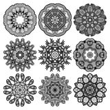 Διακόσμηση κύκλων, διακοσμητική στρογγυλή συλλογή δαντελλών Στοκ εικόνα με δικαίωμα ελεύθερης χρήσης