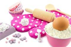 Διακόσμηση των κέικ φλυτζανιών Στοκ Εικόνα