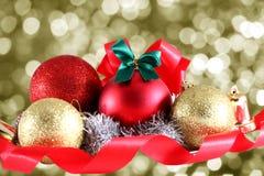 Διακόσμηση Χριστουγέννων στην περίληψη backgroundStock Στοκ φωτογραφία με δικαίωμα ελεύθερης χρήσης