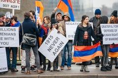 Διαμαρτυρία αρμενικής και Διασποράς της Τουρκίας Στοκ Φωτογραφίες