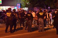 Διαμαρτυρία πυροβολισμού Ferguson στο ασβέστιο του Όουκλαντ Στοκ Εικόνες