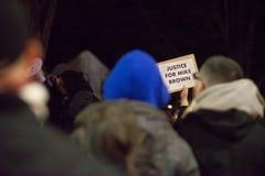 Διαμαρτυρία του Michael Brown Στοκ Εικόνες