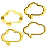 Διαμορφωμένες σύννεφο φυσαλίδες κειμένων Στοκ Εικόνες