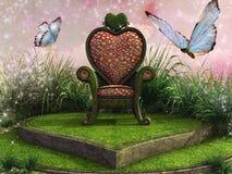 Διαμορφωμένος καρδιά θρόνος Στοκ εικόνα με δικαίωμα ελεύθερης χρήσης
