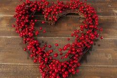 Διαμορφωμένο καρδιά στεφάνι Στοκ φωτογραφία με δικαίωμα ελεύθερης χρήσης