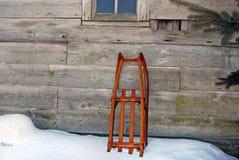 διαμορφωμένο παλαιό έλκηθρο Στοκ Εικόνες