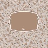 Διανυσματικά άνευ ραφής διακοσμητικά λουλούδια 2 πλαισίων Στοκ εικόνες με δικαίωμα ελεύθερης χρήσης