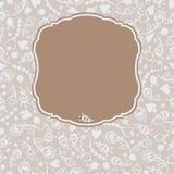 Διανυσματικά άνευ ραφής διακοσμητικά λουλούδια πλαισίων Στοκ Εικόνες