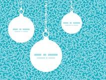 Διανυσματικά αφηρημένα υποβρύχια Χριστούγεννα εγκαταστάσεων Στοκ Εικόνες