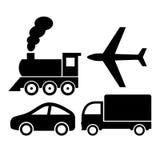 Διανυσματικά εικονίδια μεταφορών Στοκ Εικόνες