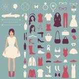 Διανυσματικά εικονίδια μόδας Στοκ Εικόνα