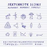 Διανυσματικά εικονίδια doodle Στοκ φωτογραφία με δικαίωμα ελεύθερης χρήσης