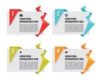 Διανυσματικά εμβλήματα Origami - έννοια Infographic Στοκ Φωτογραφίες