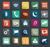 Διανυσματικά επιχειρησιακά επίπεδα εικονίδια τεχνολογίας Στοκ εικόνα με δικαίωμα ελεύθερης χρήσης