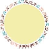Διανυσματικά διακοσμητικά λουλούδια 1 πλαισίων Στοκ Εικόνα