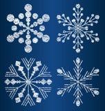 Διανυσματικά κατασκευασμένα snowflakes 2 Στοκ φωτογραφία με δικαίωμα ελεύθερης χρήσης
