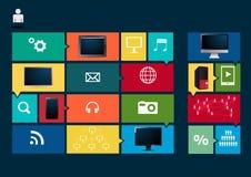 Διανυσματικά κοινωνικά μέσα προτύπων σύγχρονου σχεδίου Στοκ Φωτογραφία