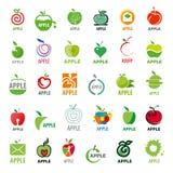 Διανυσματικά μήλα λογότυπων συλλογής Στοκ Φωτογραφία