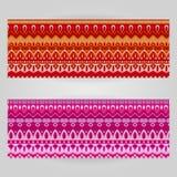 Διανυσματικά πρότυπα που τίθενται με το διακοσμητικό θέμα τέχνης Στοκ Εικόνες