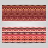 Διανυσματικά πρότυπα που τίθενται με το διακοσμητικό θέμα τέχνης Στοκ φωτογραφία με δικαίωμα ελεύθερης χρήσης