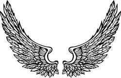 διανυσματικά φτερά εικόν&alpha Στοκ Εικόνα
