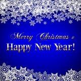 Διανυσματικά Χριστούγεννα και νέο υπόβαθρο έτους με Στοκ εικόνες με δικαίωμα ελεύθερης χρήσης