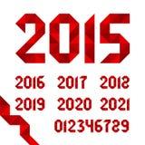 Διανυσματικές ημερομηνίες κορδελλών για τα ημερολόγια Στοκ Εικόνες