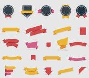 Διανυσματικές κορδέλλες και ετικέτες Στοκ εικόνες με δικαίωμα ελεύθερης χρήσης