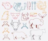 Διανυσματική δέσμη ζώων αγροκτημάτων που χρωματίζεται Στοκ Φωτογραφία