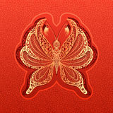 Διανυσματική απεικόνιση πεταλούδων εγγράφου Στοκ Εικόνα