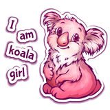 Διανυσματική απεικόνιση του koala στο ύφος κινούμενων σχεδίων Στοκ Εικόνες
