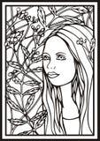 διανυσματική γυναίκα πορτρέτου Στοκ Εικόνες