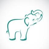 Διανυσματική εικόνα ενός ελέφαντα Στοκ Εικόνες