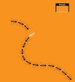 Διανυσματική εικόνα μυρμήγκια στο πορτοκαλί υπόβαθρο Στοκ φωτογραφία με δικαίωμα ελεύθερης χρήσης