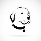 Διανυσματική εικόνα του κεφαλιού ενός του Λαμπραντόρ σκυλιού Στοκ Εικόνες