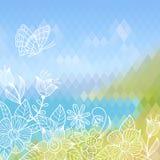 Διανυσματική θερινή ανασκόπηση Στοκ εικόνες με δικαίωμα ελεύθερης χρήσης