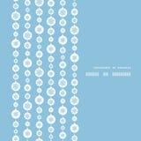 Διανυσματική μπλε και άσπρη snowflakes κατακόρυφος λωρίδων Στοκ Φωτογραφία
