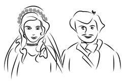Διανυσματική νύφη Στοκ Εικόνες