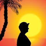 Διανυσματική σκιαγραφία μιας γυναίκας Στοκ εικόνα με δικαίωμα ελεύθερης χρήσης