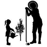 Διανυσματική σκιαγραφία της γυναίκας Στοκ εικόνα με δικαίωμα ελεύθερης χρήσης