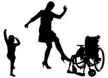 Διανυσματική σκιαγραφία της οικογένειας Στοκ Εικόνες