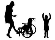 Διανυσματική σκιαγραφία της οικογένειας Στοκ Εικόνα