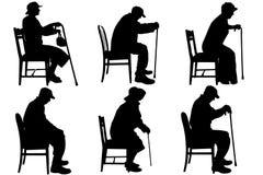 Διανυσματική σκιαγραφία του ηλικιωμένου ανθρώπου Στοκ φωτογραφία με δικαίωμα ελεύθερης χρήσης