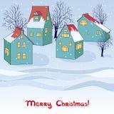 Διανυσματική χειμερινή κάρτα Στοκ Εικόνα